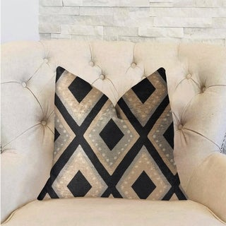 Plutus Jager Dotz Blue and Beige Luxury Throw Pillow