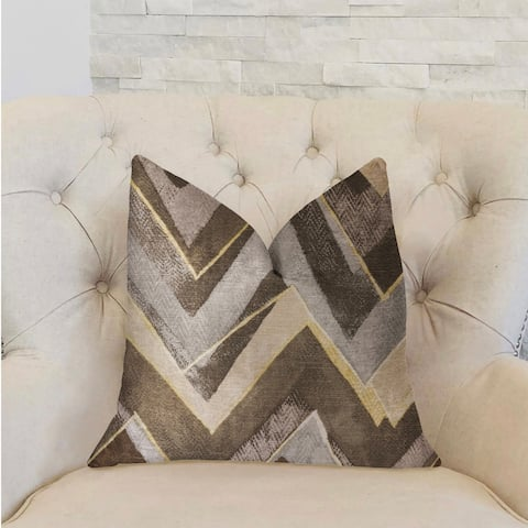 Plutus Badger Cove Brown Luxury Decorative Throw Pillow