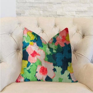 Plutus Floral Goddess Multicolor Luxury Decorative Throw Pillow