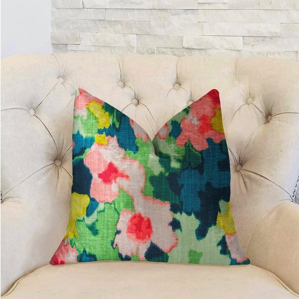 Plutus Floral Goddess Multicolor Luxury Decorative Throw Pillow
