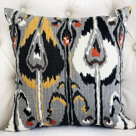 Plutus Tigerlily Gray Luxury Decorative Throw Pillow