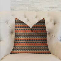 Plutus Story Circle Red, Blue and Gray Luxury Decorative Throw Pillow