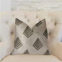 Plutus Aspen Mist Blue and Beige Luxury Throw Pillow