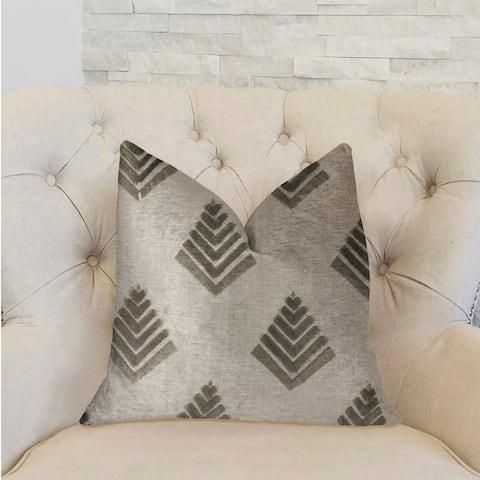 Plutus Aspen Mist Blue and Beige Luxury Decorative Throw Pillow