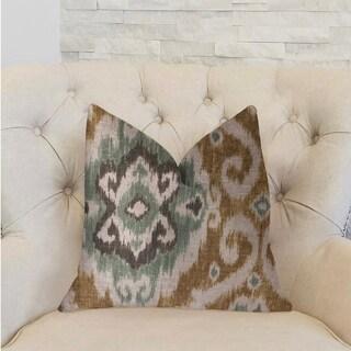 Plutus Ambrosia Yellow and Beige Luxury Throw Pillow