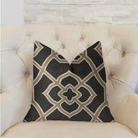 Plutus Terra Bell Black and Beige Luxury Throw Pillow