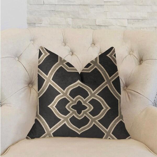Plutus Terra Bell Black and Beige Luxury Decorative Throw Pillow
