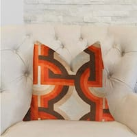 Plutus Delightful Chain Multicolor Luxury Throw Pillow