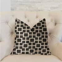 Plutus Petunia Black and White Luxury Throw Pillow