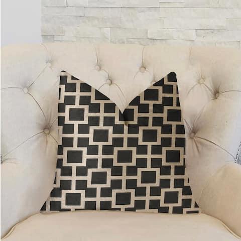 Plutus Petunia Black and White Luxury Decorative Throw Pillow