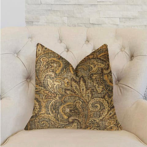 Plutus Cypress Field Brown Luxury Decorative Throw Pillow