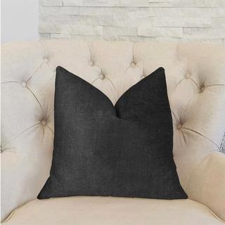 Plutus Luna Black Luxury Decorative Throw Pillow