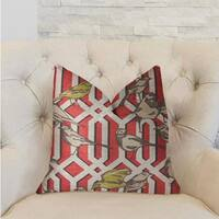 Plutus Bird Forest Multicolor Luxury Throw Pillow