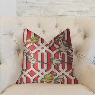 Plutus Bird Forest Multicolor Luxury Decorative Throw Pillow
