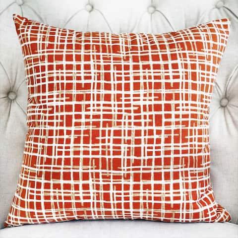 Plutus Spiced Fields Orange and Beige Luxury Decorative Throw Pillow