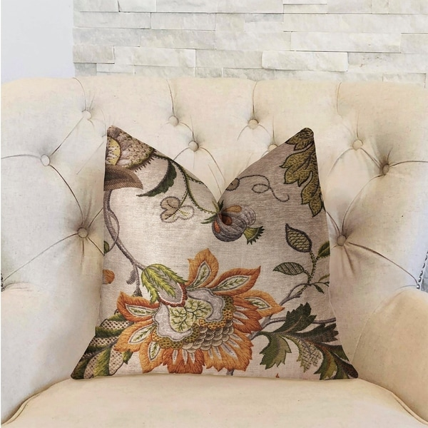 Plutus Harmony Meadows Multicolor Luxury Decorative Throw Pillow