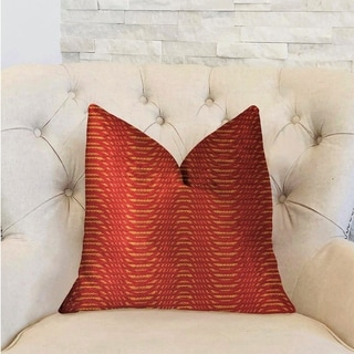 Plutus New Earth Ripple Red Luxury Decorative Throw Pillow