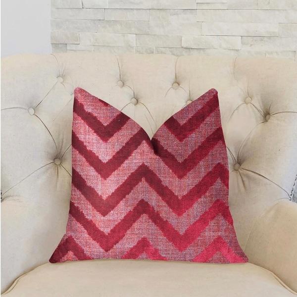 Plutus Valentina Red Luxury Throw Pillow