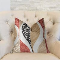 Plutus Oak Valley Multicolor Luxury Throw Pillow