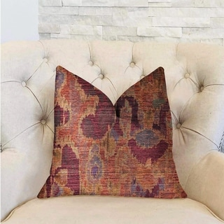 Plutus Bear Valley Red Luxury Decorative Throw Pillow