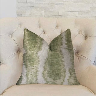 Plutus Green Haven Green and Beige Luxury Decorative Throw Pillow