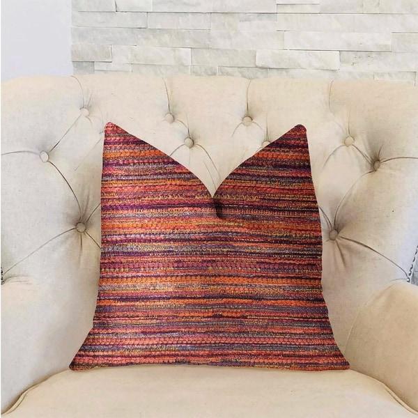 Plutus Sunset Sky Red Luxury Decorative Throw Pillow
