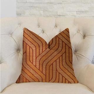 Plutus Twin Overpass Orange Luxury Decorative Throw Pillow
