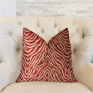 Plutus Oasis Waves Red Luxury Decorative Throw Pillow