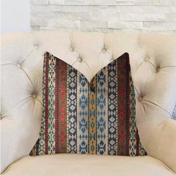 Plutus Arrowhead Canal Multicolor Luxury Decorative Throw Pillow