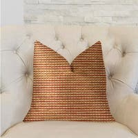 Plutus French Brick Orange and Beige Luxury Decorative Throw Pillow
