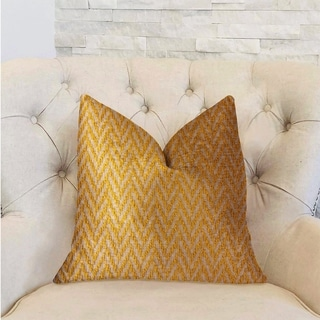 Plutus Zun Rise Yellow and Beige Luxury Decorative Throw Pillow