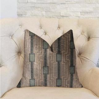 Plutus Gusto Square Blue Luxury Decorative Throw Pillow