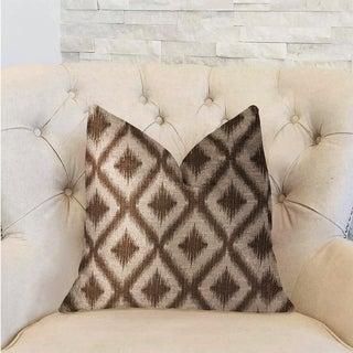 Plutus Casa Nova Brown Luxury Throw Pillow