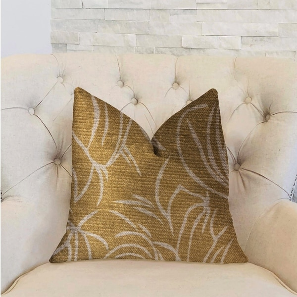 Plutus Mira Mirage Gold Luxury Decorative Throw Pillow