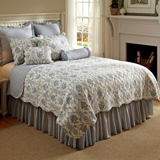 Sabrina French Toile 100% Cotton Quilt Set