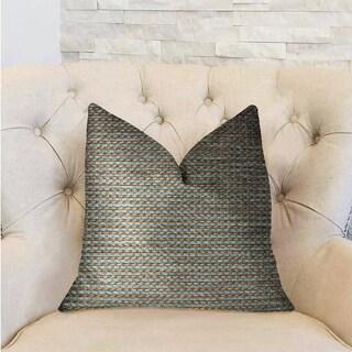 Plutus Jesper Jade Green and Beige Luxury Throw Pillow