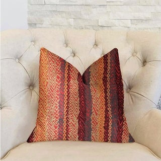 Plutus Red Cosmo Multicolor Luxury Throw Pillow (More options available)
