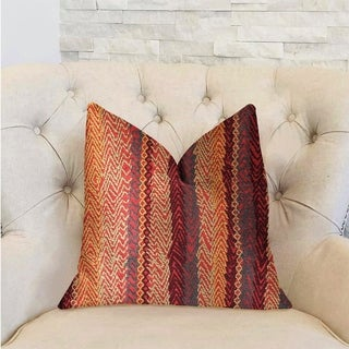 Plutus Red Cosmo Multicolor Luxury Decorative Throw Pillow