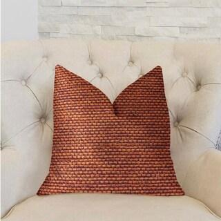 Plutus Roseate Orange Luxury Throw Pillow