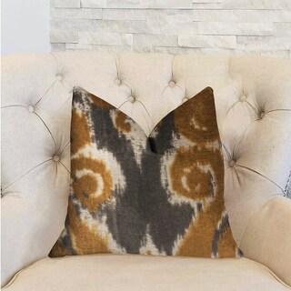 Plutus Euphoria Plush Gold Luxury Throw Pillow
