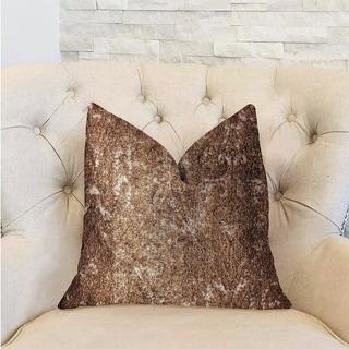 Plutus Chestnut Crush Brown Luxury Decorative Throw Pillow