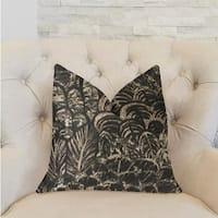 Plutus Rowan Gale Black and Beige Luxury Decorative Throw Pillow