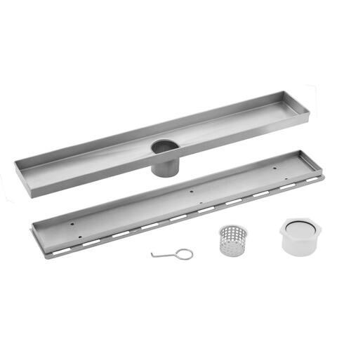 30 in. Stainless Steel Tile Insert Linear Shower Drain