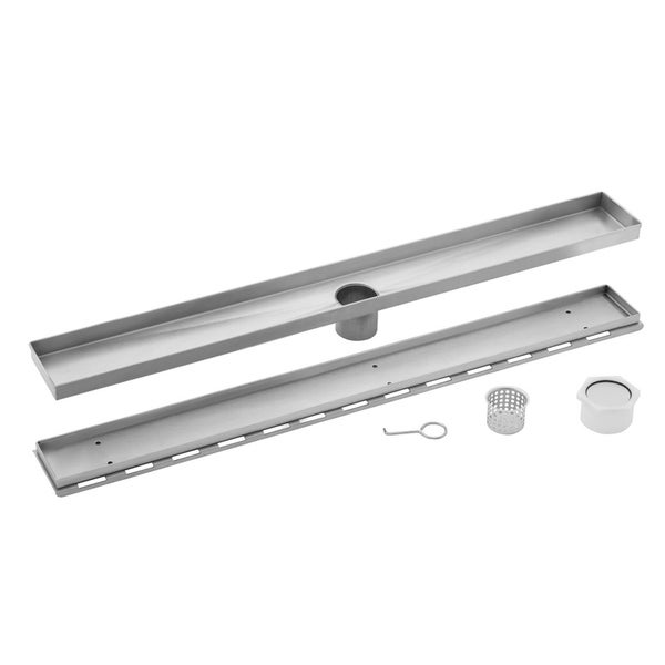 40 in. Stainless Steel Tile Insert Linear Shower Drain