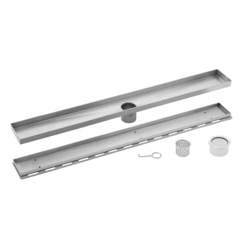 40 in. Stainless Steel Tile Insert Linear Shower Drain