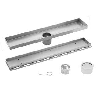 26 in. Stainless Steel Tile Insert Linear Shower Drain