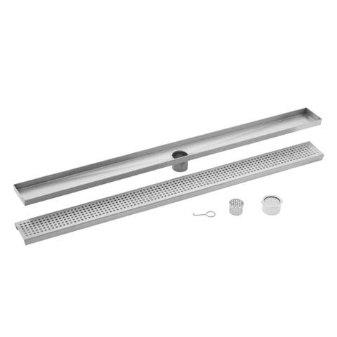 60 in. Stainless Steel Square Grate Linear Shower Drain
