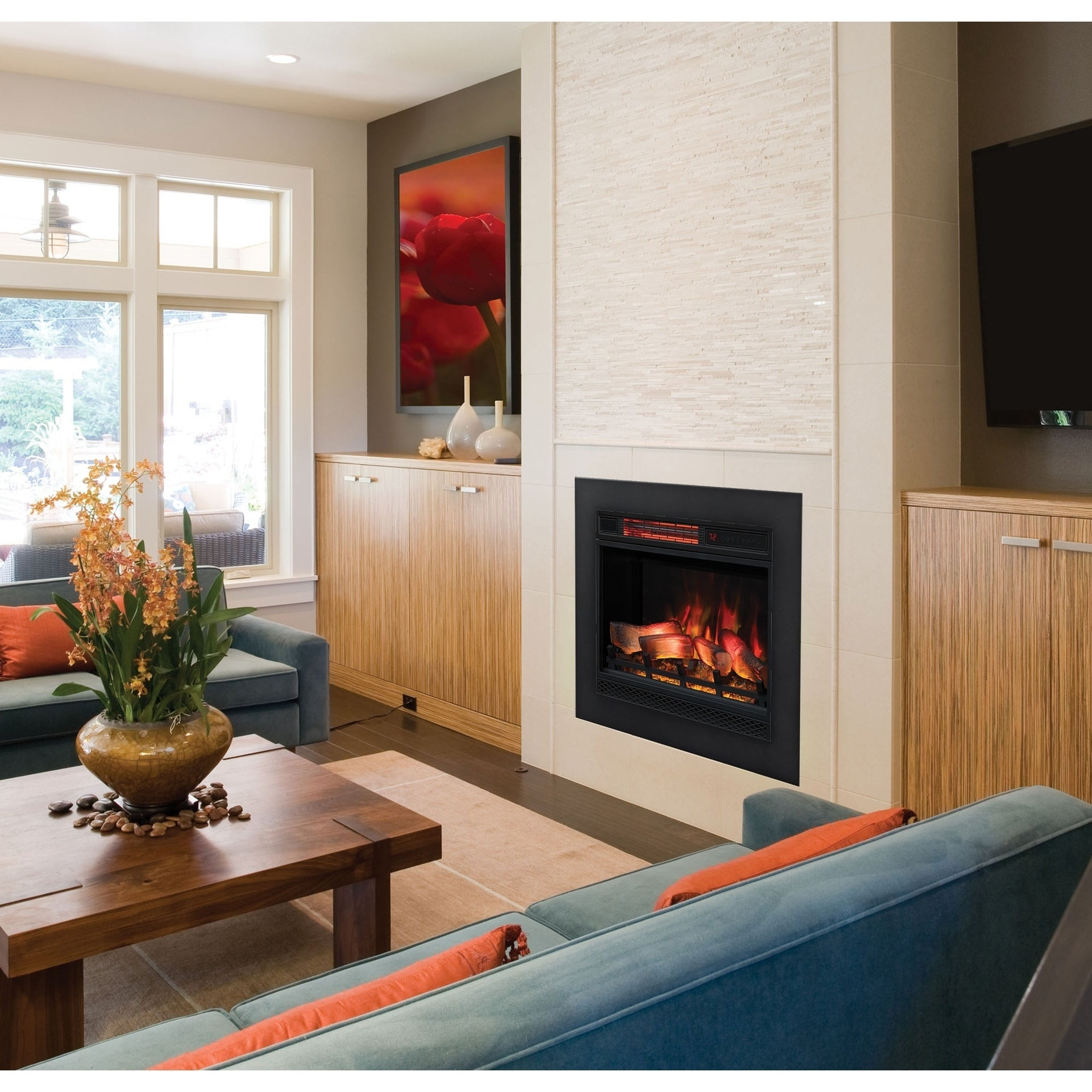 Shop Classicflame 23 3d Infrared Quartz Electric Fireplace Insert On Sale Overstock 21256177