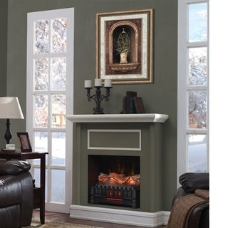 Infrared Quartz Log Set Heater with Realistic Ember Bed and Logs