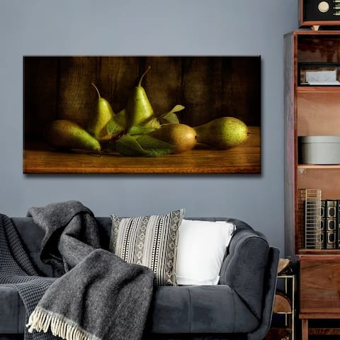 Pears' Kitchen Wrapped Canvas Wall Art